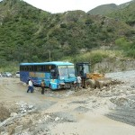 J10- Transfert Cusco-Ayacucho, notre bus embourbe dans un glissement de terrain