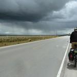 41- J17- Vers Cerro de Pasco,  km53, sortie de Carhuamayo, un orage qui ne nous aura pas (pour une fois)