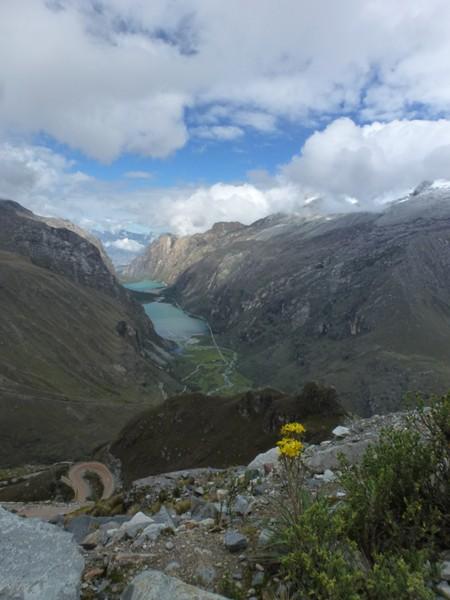 Portachuelo de Laganuco, 4700 metres d'altitude. Miam la bonne descente